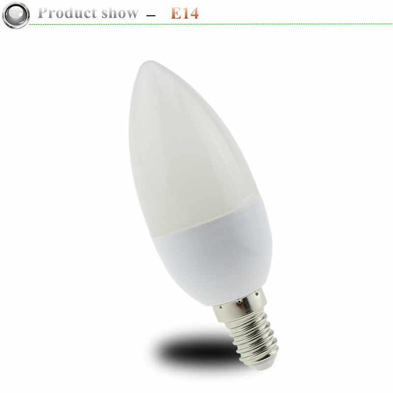 1X E14 Led مصباح على شكل شمعة لمبة موفرة للطاقة أضواء 5 واط 7 واط E14 E27 220 فولت المصابيح الثريا ضوء الأضواء Bombilla led للمنزل ديكو