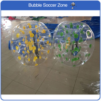 Free Shipping 1.2m TPU Inflatable Bubble Soccer Ball Air Bupmer Football For Children Bubble Zorb Ball Inflatable Bumper Ball