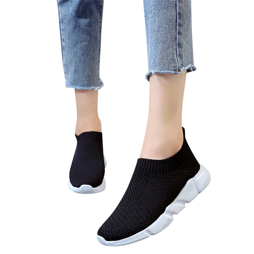 2018 New Outdoors adults trainers Running Shoes woman sock footwear sport athletic unisex breathable Mesh female Sneakers #2a (7)