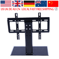 Oversea TV Stand 26-32 inch Cantilever Black Glass Base LCD TV Stand Wall Mount Stand Bracket Best Fast
