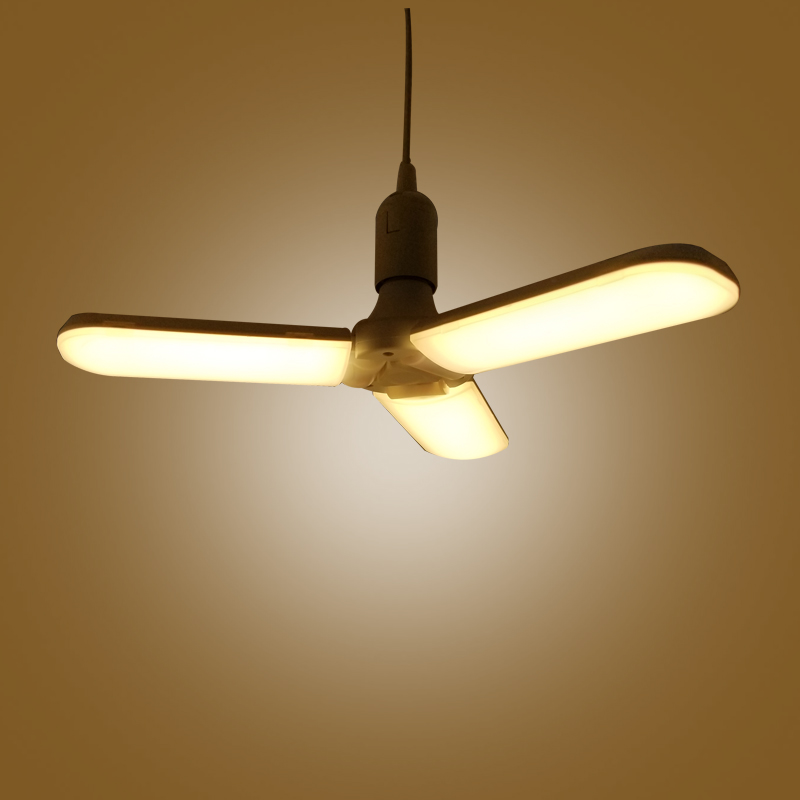 Home Motivated Led E27 Corn Bulb 45w Foldable Fan Blade Ceiling Lamp 228leds 2835 Energy Saving Lighting For Home Ac110v/220v Eye Protection Let Our Commodities Go To The World