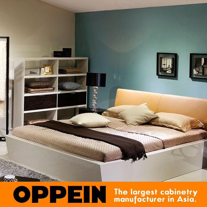 € 565.86 |Lit moderne de tissu de meubles à la maison pour des ensembles de  chambre à coucher WB TM160005 de lit en bois massif/cuir-in Lits from ...