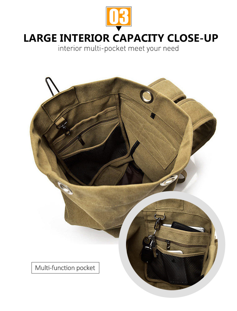 HTB1aPV6VHPpK1RjSZFFq6y5PpXaB - Large Capacity Travel Climbing Bag Tactical Military Backpack Women Army Bags Canvas Bucket Bag Shoulder Sports Bag Male XA208WD