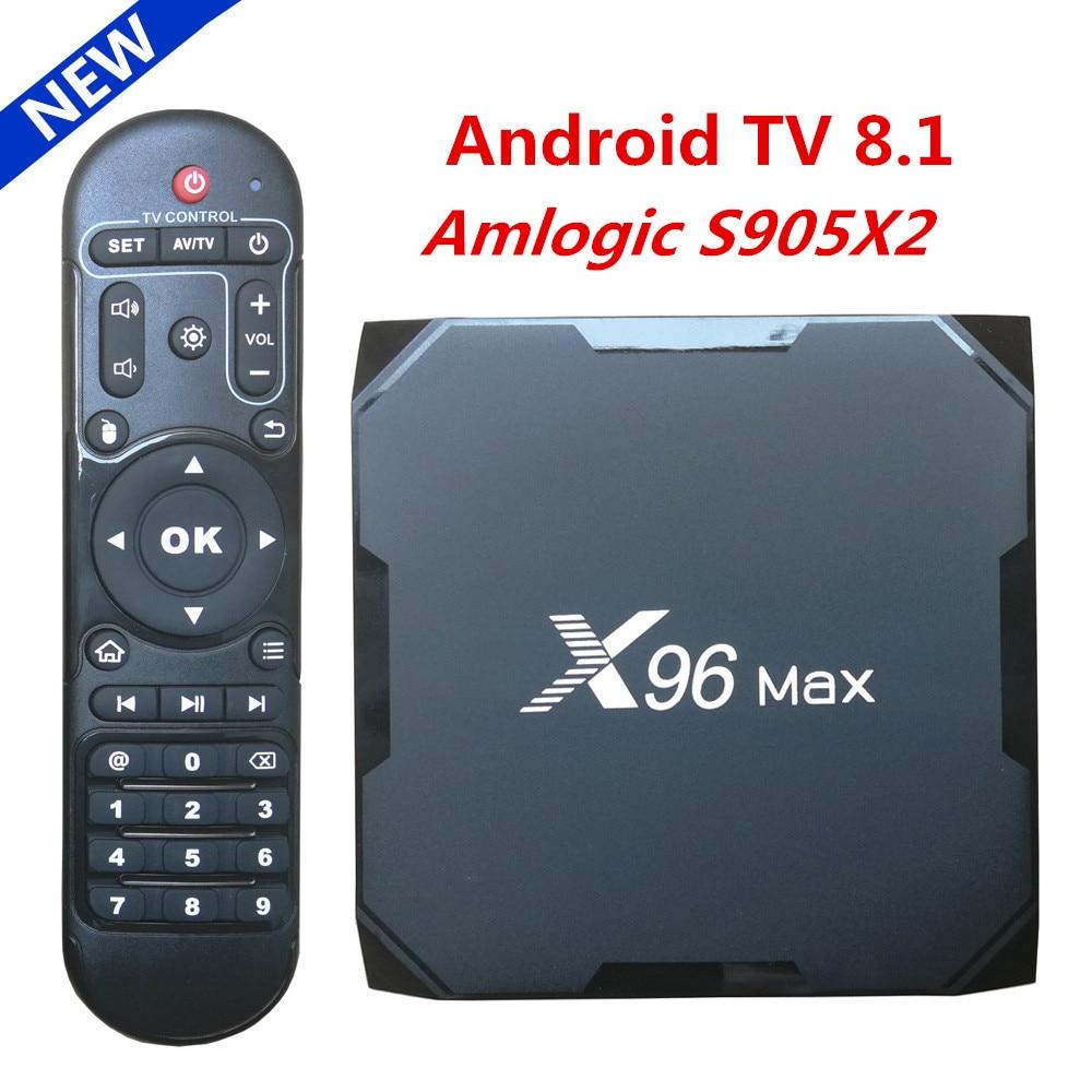 Original X96 MAX Smart TV BOX Android 8 1 Amlogic S905X2 Quad Core LPDDR4 4GB 64GB