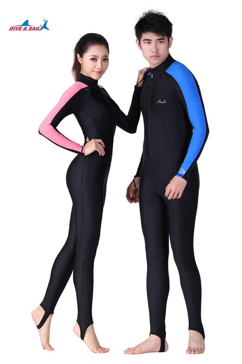 Men wetsuit diving suit long sleeve swimwear full body for Women s ice fishing suit