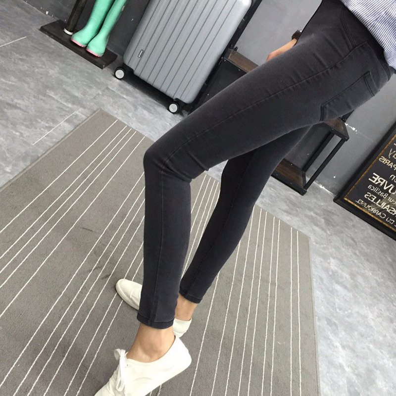 Spring New Basic Skinny Women Jeans Ankle Nine Pants Slim Elastic Denim Pants Leggings Female Cotton Jeggings Jeans dkny jeans women s printed denim ankle jeggings 2p multi