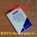 3600mAh BLP571 Mobile Phone Battery for Oneplus One Smartphone one plus one 1+ Phone