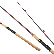 2016 2.1-2.7m 2 Section Fishing Rod Spinning Lures Rod 15-45g Lure Weight 15-25lb Line Weight MH 95% Carbon Fiber Pole For Bass