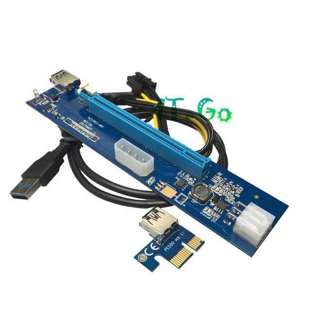 PCI-E PCI Express 1x To 16x riser Card PCIE Riser x1 to x16 with 60cm USB 3.0 Cable for bitcoin mining BTC Graphics card