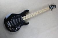 Top Quality Black Music Man Ernie Ball Sting Ray 4 String Electric Bass Guitar Free Shipping
