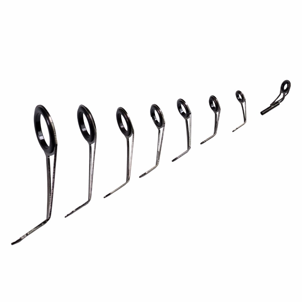 80Pcs 6 25 Single Leg Fishing Rod Guides Tip Tops Repair Kit Stainless Steel Frame Double Ceramic Ring Fishing Rod Build Guide in Fishing Rods from Sports Entertainment