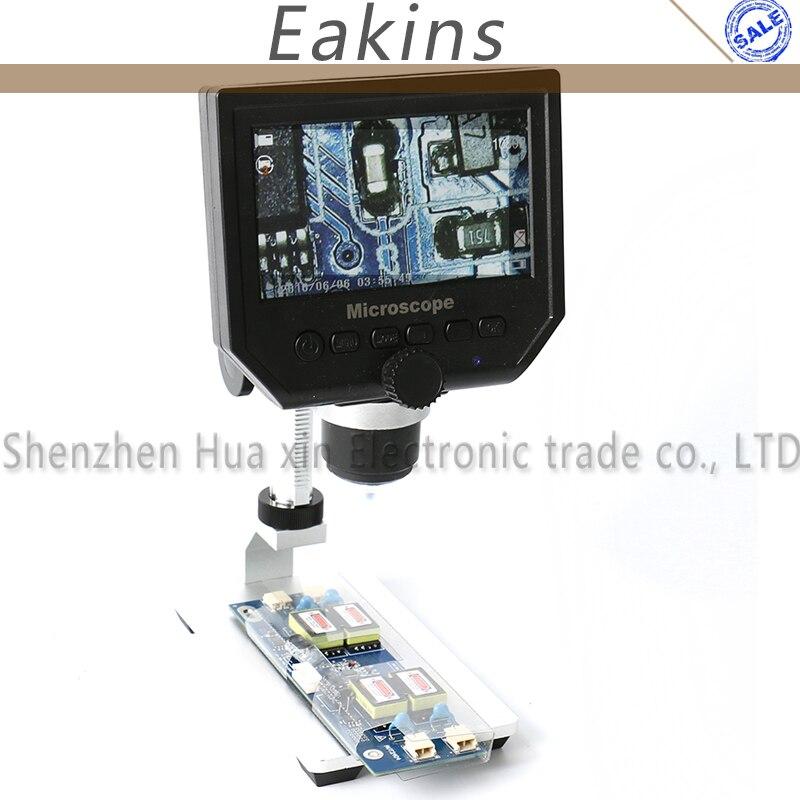1 600x 3 6MP Portable USB Digital Electronic Microscope VGA Microscope 8 LED 4 3 Aluminum
