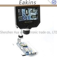 Big discount 1-600x 3.6MP Portable USB Digital Electronic Microscope VGA Microscope 8 LED 4.3″ Aluminum alloy Holder for phone repair