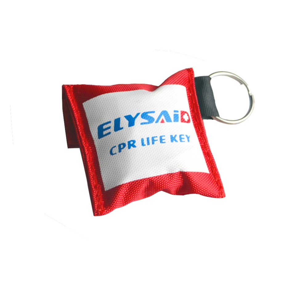 50Pcs/Pack ELYSAID CPR Rescue Mask Face Shield CPR Mask With Keychain One Valve For First Aid Training With Gloves For Healthy 180pcs pack cpr mask cpr face shield with one way valve keychain keyring mask for emergency rescue first aid survival kits