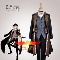 Animation Version Bungo Stray Dogs Maffia Nakahara Chuya Cosplay Custom Costume W0928
