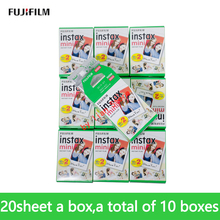 Original Fuji 200 Sheets White Film 200 Photo Paper Snapshot Album Instant for Fujifilm Instax Mini