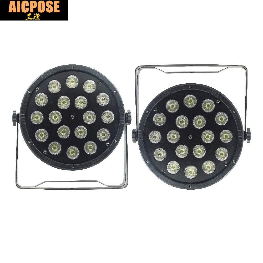 2units 18*12w Led Light 18x12W Led Par Lights RGBW 4in1 Flat Par Led Dmx512 Disco Lights Professional Stage Dj Equipment