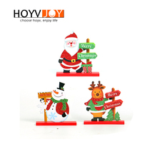 Merry Christmas Letters Santa Claus Snowman Elk Wood Christmas Day Family Party Desktop Decoration HOYVJOY debbie macomber christmas wishes christmas letters rainy day kisses