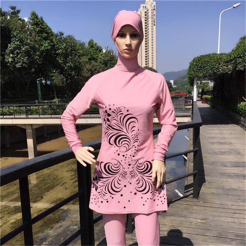 66b890a3c831c Size S to 8XL Muslim Swimming Suit Islam Swimming Clothes Women Islamic  Swimsuit Adulte Islamic Swimwear Women Dress-in Bikinis Set from Sports ...