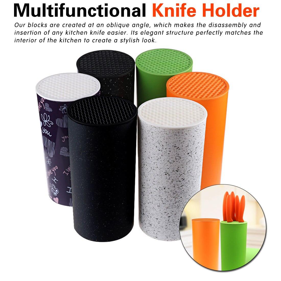 Plastic Tool Holder Multifunctional Plastic Tool Holder Knife Block Knife Stand Tube Shelf Chromophous