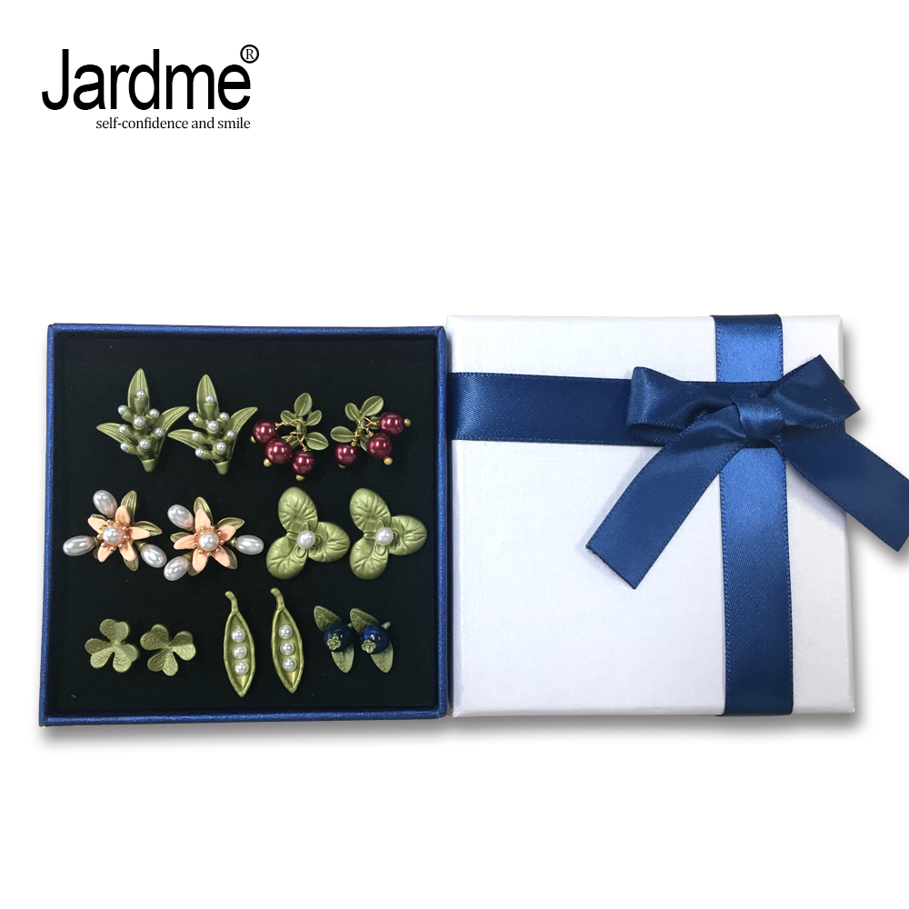Jardme Pastoral Style 7 Pairs Vintage Earrings Gift Sets It's Different Every Day for a Week Bijou Wedding Party Gift Package