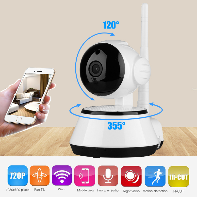 Howell Wireless Wifi IP Monitoring Security 1.0MP HD 720P Camera with Pan/Tilt/Zoom Surveillance IP Camera for Home Security