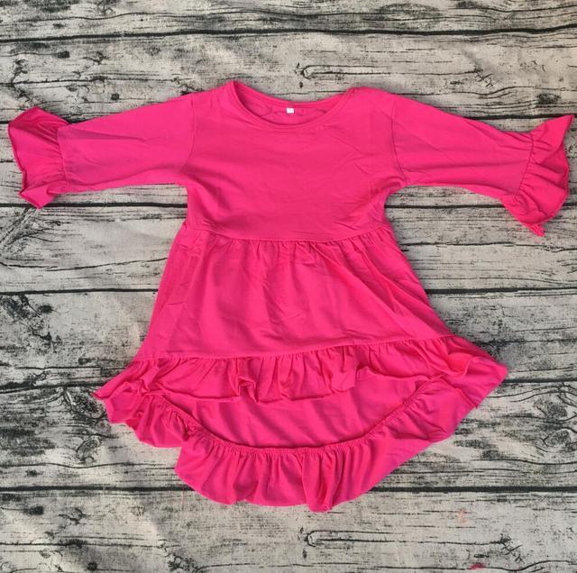 Boutique kinder High Low Top Kleid kinder Rüschen Kleider design ...