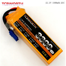 TCBWORTH 6S 22.2V 3300mAh 25C RC Airplane LiPo battery For RC Helicopter Quadrotor Drone Car boat Truck Li-ion battery