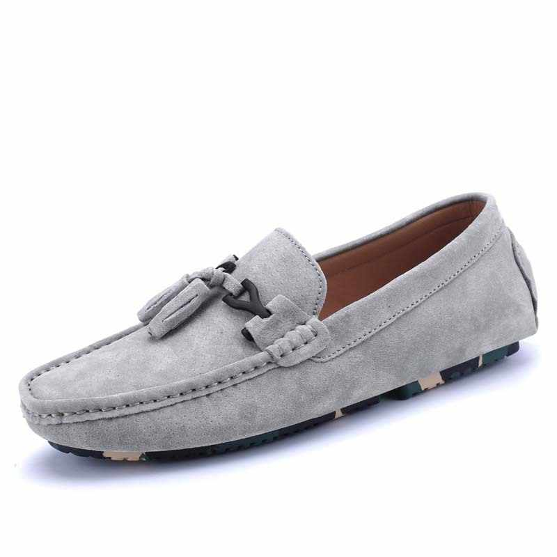 Mens Driving Penny Loafers Suede Moccasins Slip on Casual