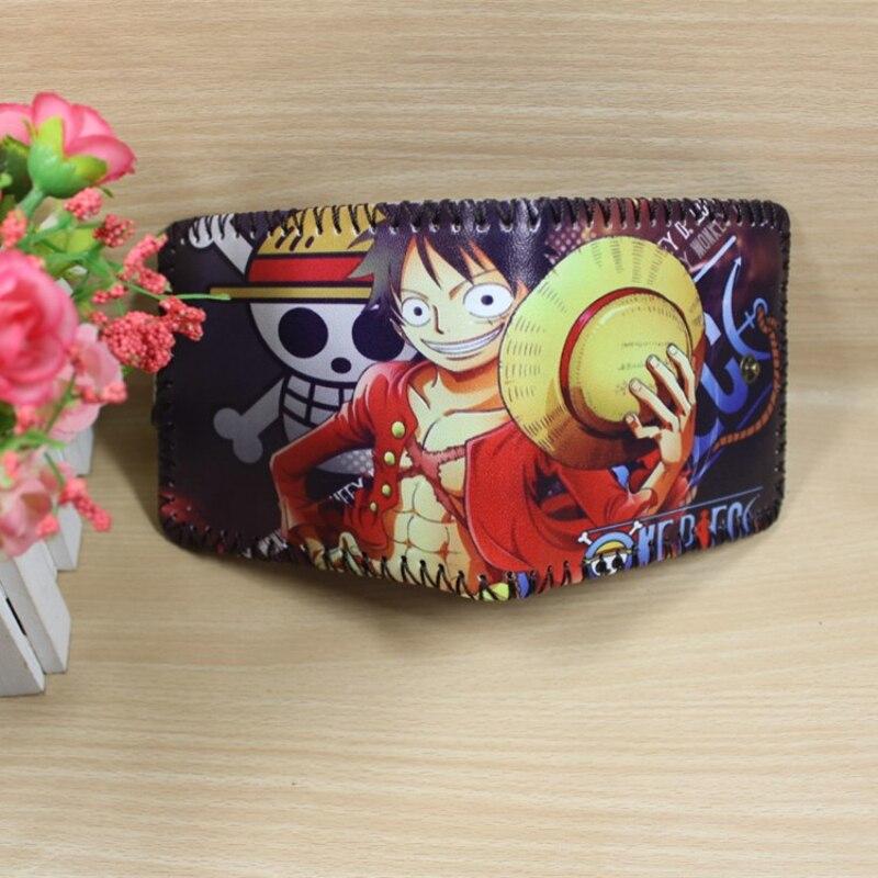 Retro Net Wallet With Hasp One Piece Luffy Anime Purse Conan  Cartoon Woman Man Wallet Attack On Titan Children Wallet Gift