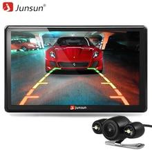 Junsun 7 pulgadas de navegador gps del coche de bluetooth con la cámara de visión trasera mp3 mp4 256 mb ddr/800 mhz detallada mapa libre
