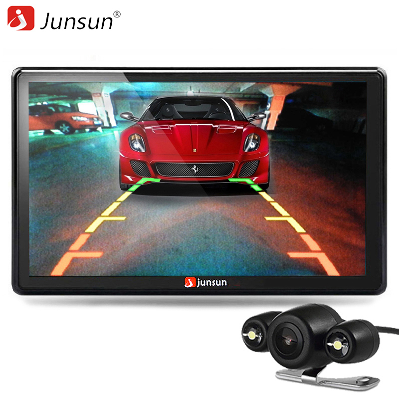 Junsun 7 inch Car GPS Navigator Bluetooth with Rear view font b Camera b font MP3
