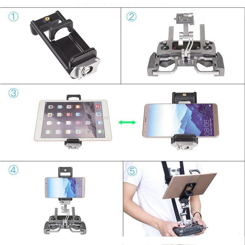 Drone Controller Supporto Del Metallo Crystalsky di Montaggio Per DJI Mavic Min 2/1 Pro Remote Controller Staffa Del Telefono Tablet Monitor Clip - 5