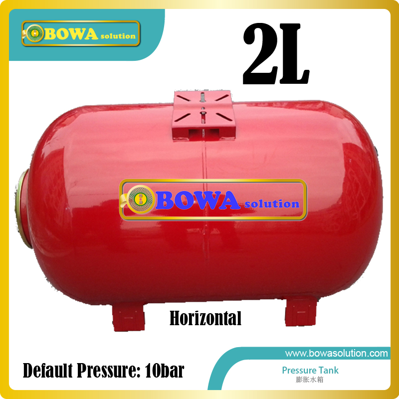 2L carbon steel horizontal pressure tank suitable for small volume water chiller or wate temperature machines horizontal pressure tank 36l carbon steel