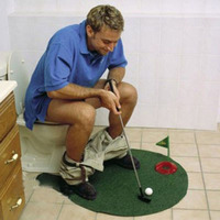 GRappige toilet putting green