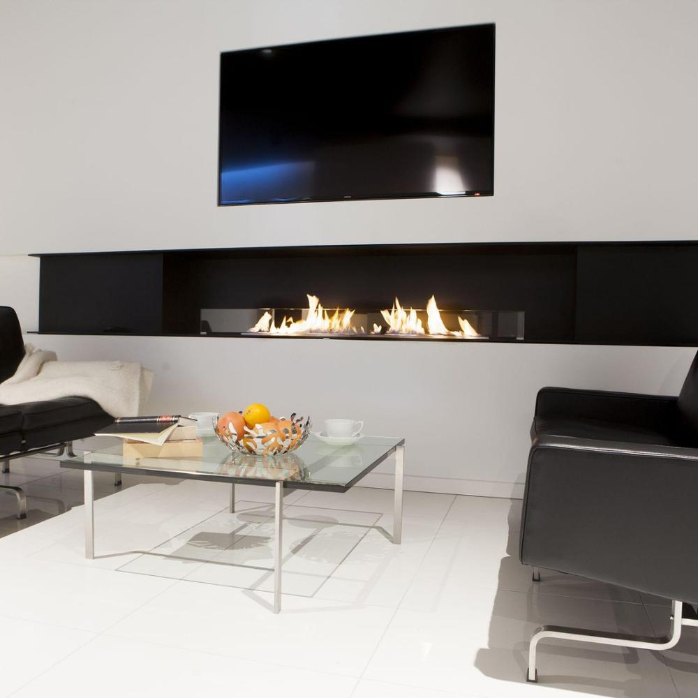 18 Inch Wifi Real Fire Automatic Intelligent Smart Bioethanol Fireplace Insert