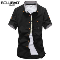 2016 New Arrival Brand Clothing Casual Shirt Men Summer 11 Colors Short Sellve Shirt Slim Fit