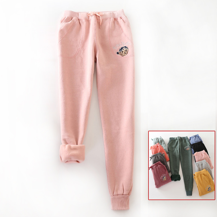 e03449ce Pantalones de invierno capri cálido para mujer pantalones de chándal ...