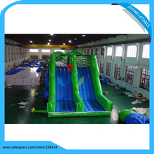 2017 Top fun factory made long inflatable water slide ,giant inflatable water slide