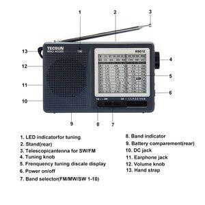 Image 3 - TECSUN R 9012 FM/AM/SW راديو 12 العصابات المحمولة استقبال الإنترنت راديو حساسية عالية الانتقائية منخفضة الضوضاء FM/AM/SW راديو