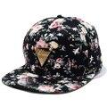 Унисекс Бейсболка Хип-Хоп Snapback Плоским Козырьком Регулируемая Hat Прохладный Цветочный Цветок Шляпа Красивый Мужчины Женщины Cap