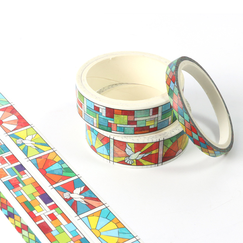 New 3pcs Colorful Geometry Grid Washi Tape School Supplies Stationery Tape Office Stationery Tape