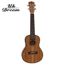 UK Dream 23″ Concert Electric Ukulele 4 AQUILA Strings 18 Fret Hawaiian Guitar 61cm Uku Acoustic Ukelele  Rose Wood Material