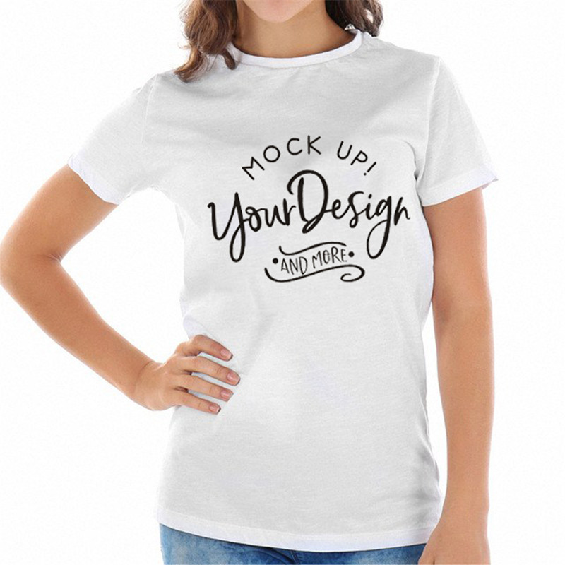 ccba37bc1e6f WT0073 Women Cotton O neck Casaul Tops Mockup T shirt Bella Canvas Unisex T  shirt-in T-Shirts from Women's Clothing on Aliexpress.com | Alibaba Group