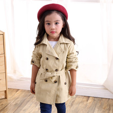 Girls jacket children's clothing Spring girl trench coat Autumn Trench