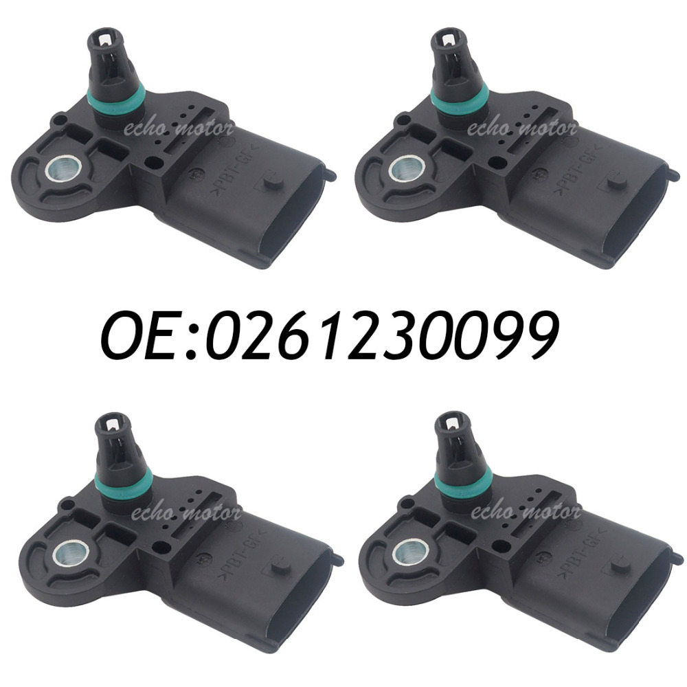 New 4pcs Original Intake Manifold Absolute Pressure MAP Sensor For Chevrolet Chery Polaris 0261230099, 480ED1008060 left rear heel shift shifter lever pedal peg for harley touring softail fl 1988