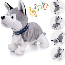 Interactive Puppy Plush Walking Pet Electronic Cute Robot Dog Baby Toys Sound Control Husky Stuffed Animal Dog Toys for Children(China)