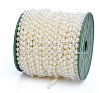 pearl necklace! 25meters/lot 6mm string of beads pearl Beads Garland Wedding Centerpiece party decoration crafting DIY accessory