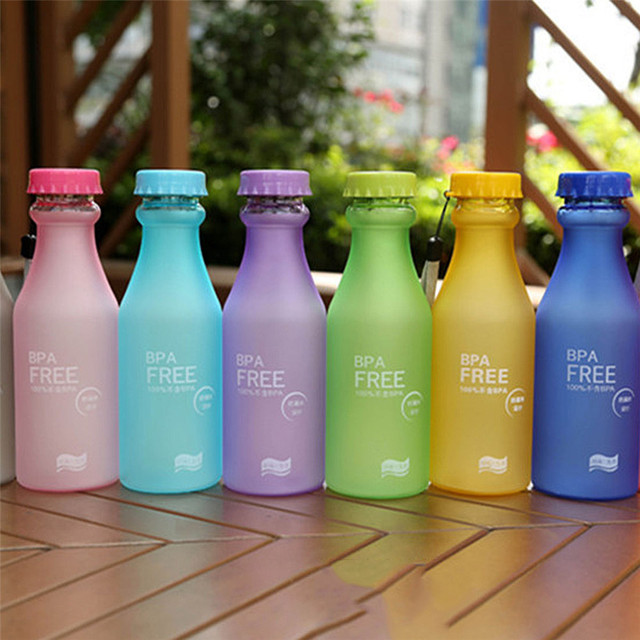 350ml Random Colors BPA Free Plastic Empty Water Storage Bottle Outdoor Sport Camping Drinking Bottles For Bicycle