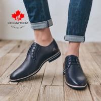 Casual leather shoes men,DECARSDZ Quality Men shoes,Business casual shoes designed in Paris,Comfortable leather shoes for men